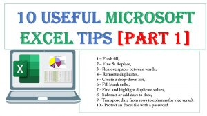 10 Useful Microsoft Excel tips [Part 1]