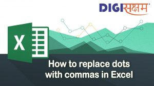 #Excel Tips & Tricks | How to replace dots with commas in Excel