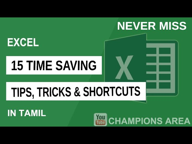 15 Awesome Excel Tips and Tricks in Tamil