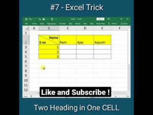 #shorts Amazing Excel Trick You Must Know | Excel Tips and Tricks #excel #deepaktechworld