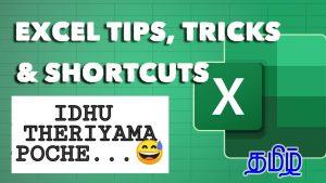 Top 20 Excel tips & Tricks in Tamil