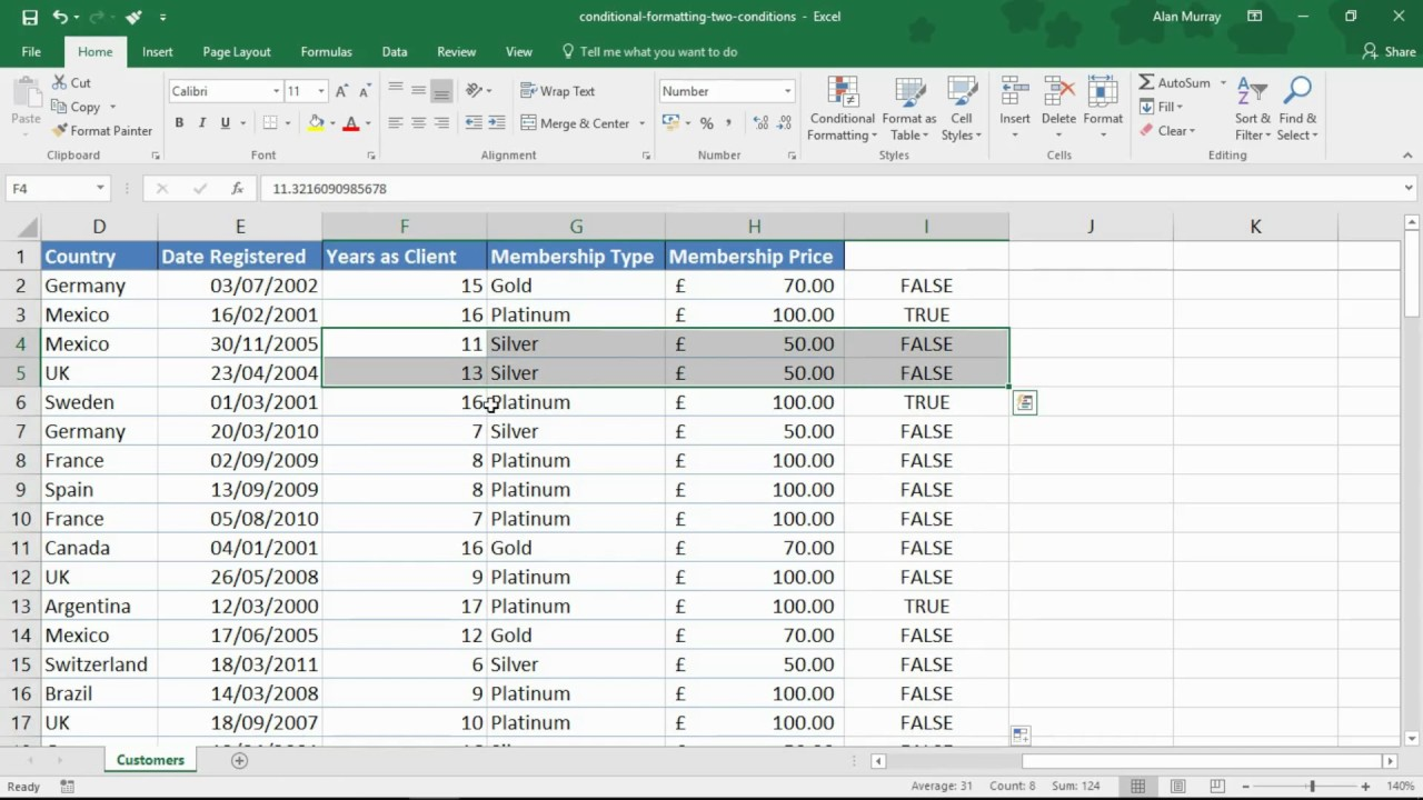Conditional Formatting with Two Conditions – Excel Tip