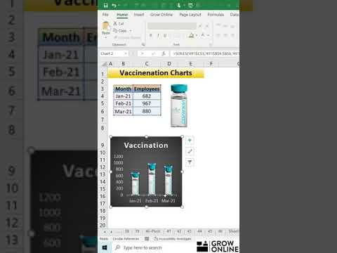 MS Excel Tricks & Tips 2021 – Vaccination Charts in Excel  (Video 49), #Shorts