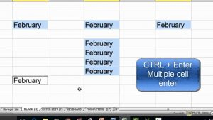 Excel Tips — Data Entry Shortcuts