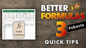 3 Quick tips to get better in Excel formulas