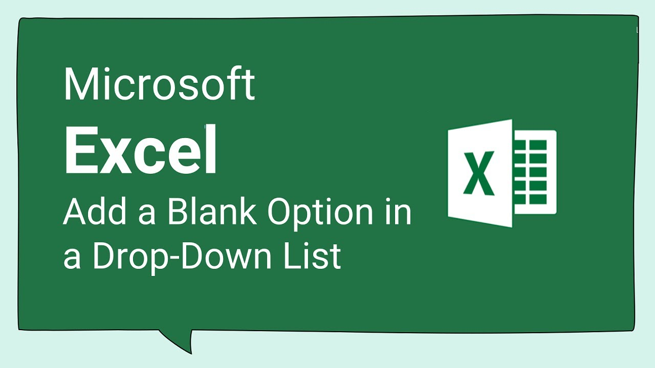 Excel Tips and Tricks #81 How to Add a Blank Option in a Drop-Down List in Excel