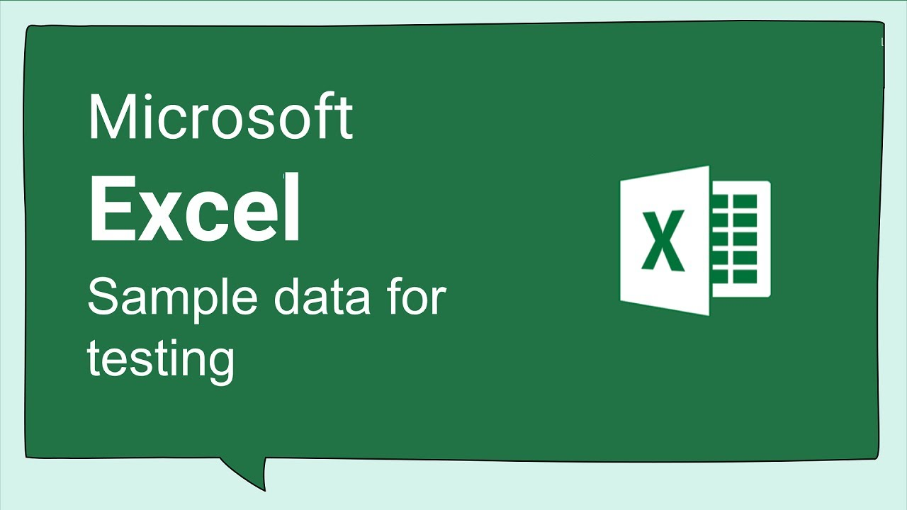 Excel Tips and Tricks #82 Excel Sample Data for Testing