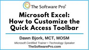 Microsoft Excel: How to Customize the Quick Access Toolbar; Excel Tips and Tricks; Excel Shortcuts