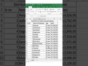 #shorts | Excel Tutorial for Beginners | Excel Tips And Tricks | Excel Tutorial in Hindi | #excel