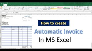 Excel tips and Tricks | How to create Automatic Invoice in MS Excel