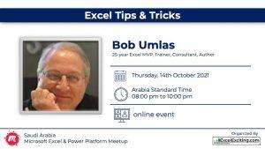 Excel Tips & Tricks with Bob Umlas