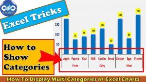 Excel Tricks : How To Display Multi Categories In Excel Charts || Excel Tips || dptutorials