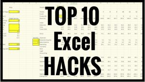 How To – Tutorial – Top 10 Excel Hacks, Tips and Tricks
