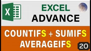 Excel COUNTIFS, AVERAGEIFS & SUMIFS Functions 👉 Advance Excel Tips and Tricks 2020 🔥 (IFS Formula)